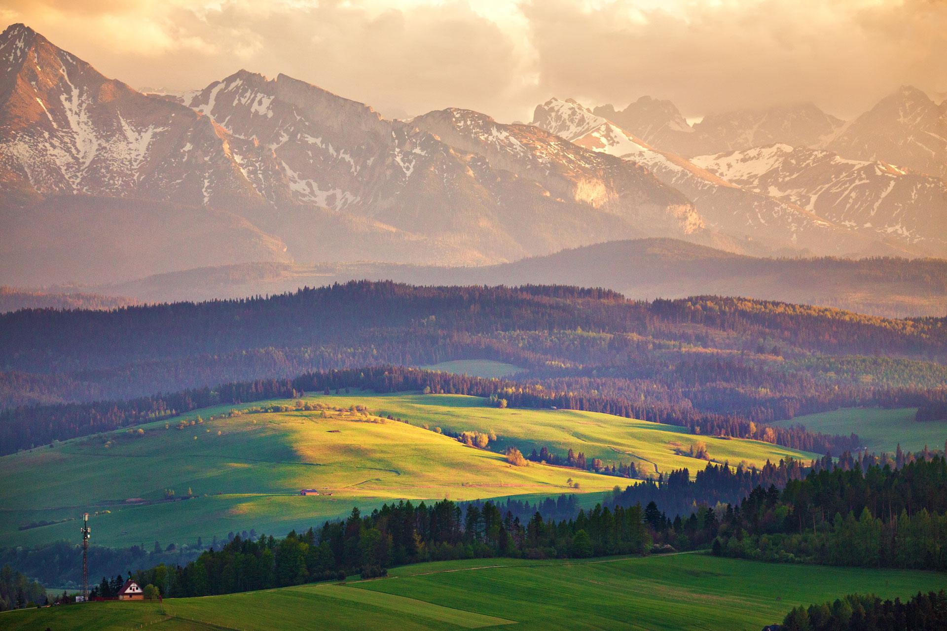 Atrakcyjna okolica w górach Jaworki